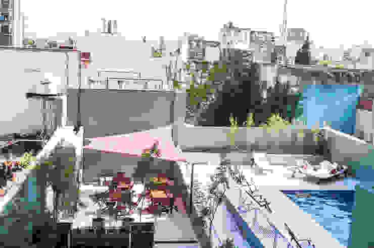 Vista desde el balcón de MinBai Minimalista Aglomerado