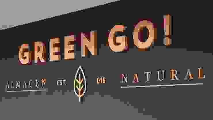 Almacen Natural GREEN GO! La Plata- Bs. As. Oficinas y comercios de estilo industrial de SBG Estudio Industrial