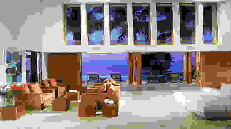 Casa Beidisia Salones modernos de José Vigil Arquitectos Moderno
