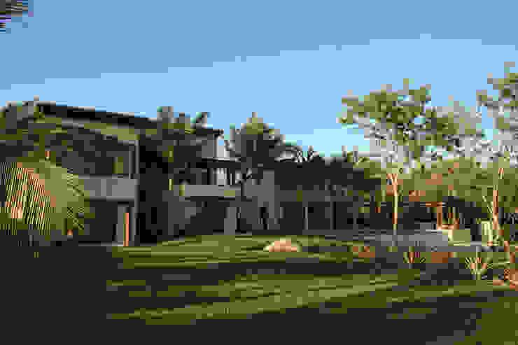 Casa Beidisia Balcones y terrazas modernos de José Vigil Arquitectos Moderno