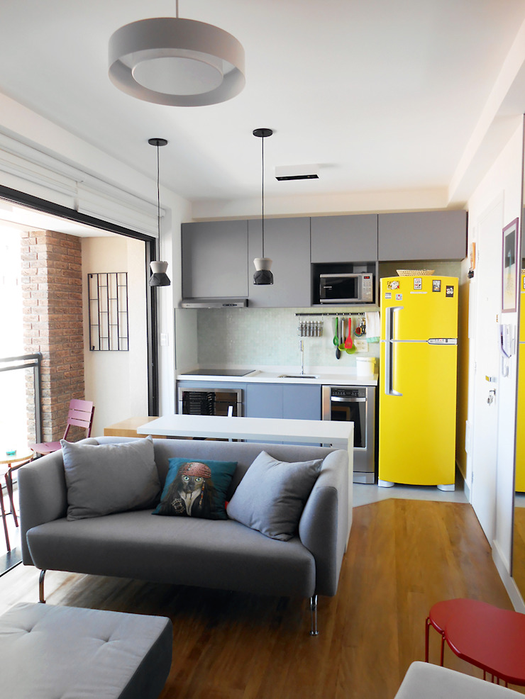 Modern Living Room by LUB Arquitetura - Luiza Bassani Modern