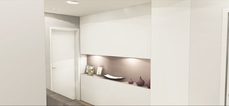 Hành lang, sảnh & cầu thang phong cách hiện đại bởi Architetto Jessica Vaghi Hiện đại