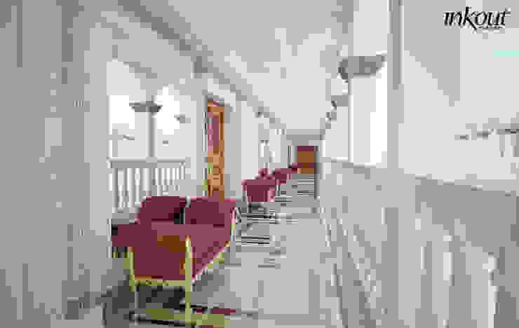 Portico Inkout srl Balcone, Veranda & Terrazza in stile classico