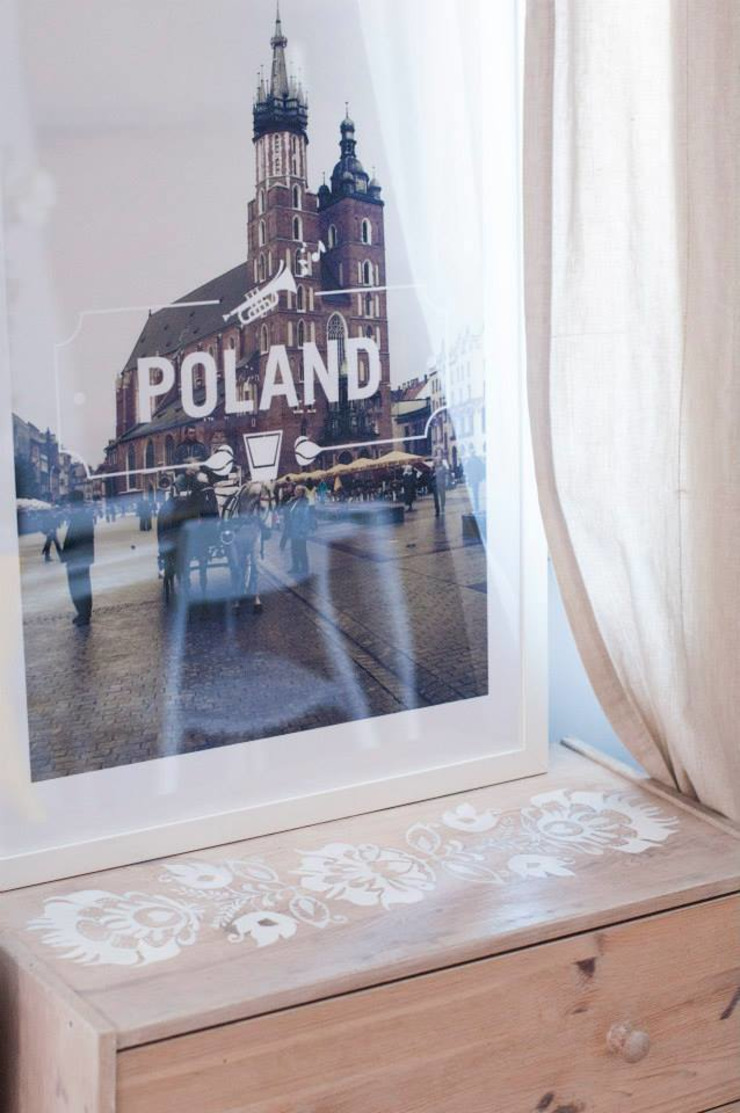 APARTAMENT POD WYNAJEM, ul. Lwoska, Kraków Minimalistyczny salon od enem.studio Minimalistyczny