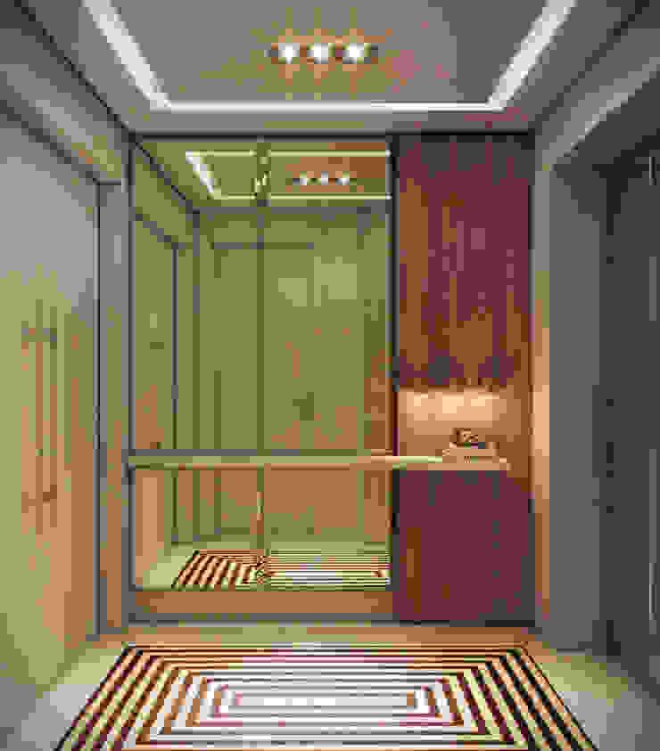 Apartamento em Miami – Château beach Corredores, halls e escadas modernos por Giovanna Castagna Arquitetura Interiores Moderno Madeira Efeito de madeira