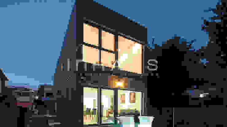 Casas de estilo  por Casas inHAUS, Moderno
