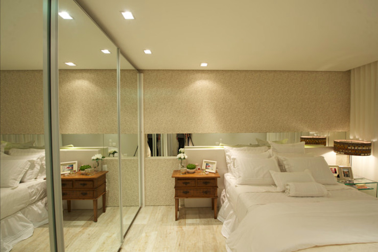 Modern Yatak Odası Giovanna Castagna Arquitetura Interiores Modern Ahşap Ahşap rengi