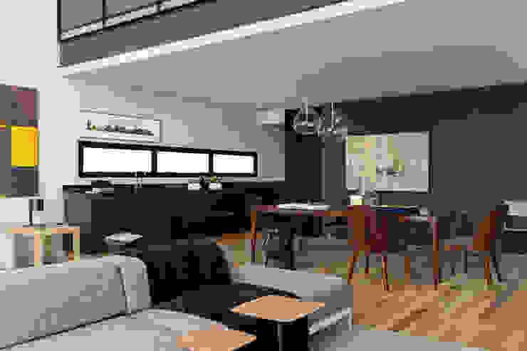 Itacolomi 445 Apartment Salas de estar modernas por DIEGO REVOLLO ARQUITETURA S/S LTDA. Moderno