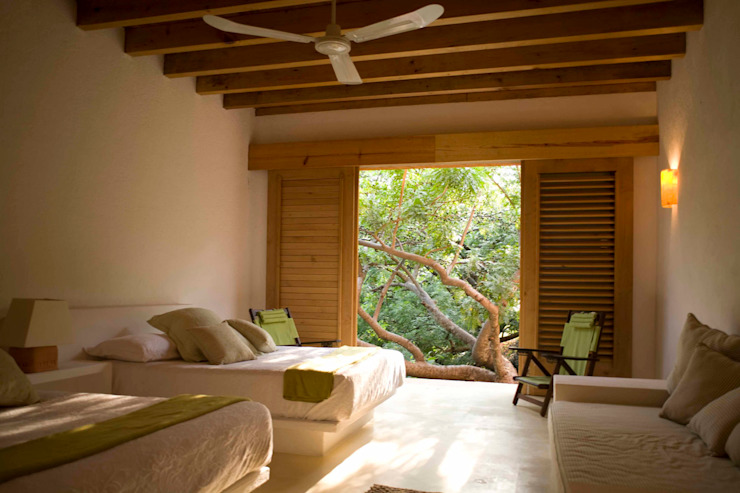 モダンスタイルの寝室 の José Vigil Arquitectos モダン