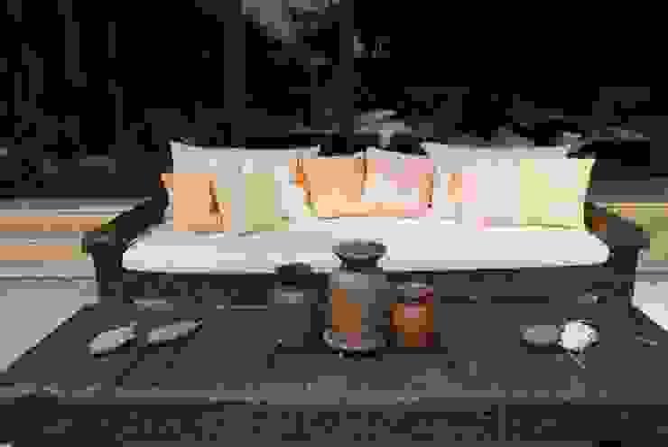 Terraza de Al Hilo Ecléctico Textil Ámbar/Dorado