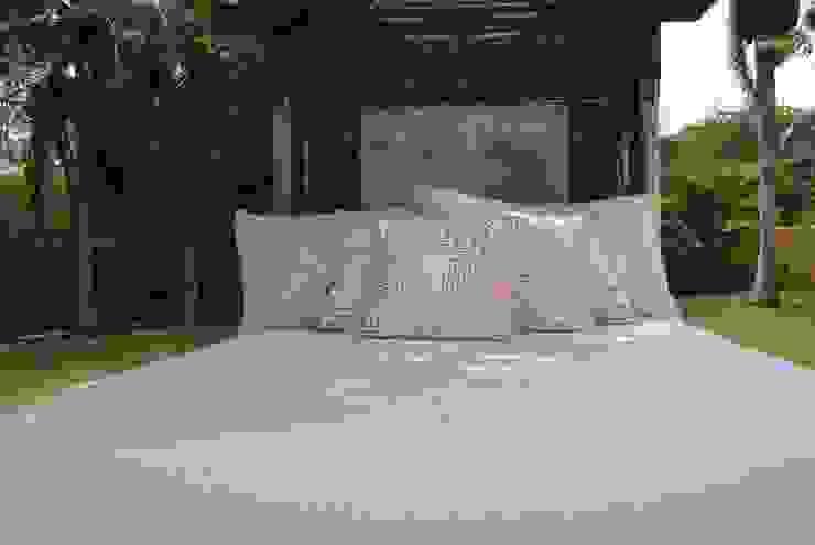 Cama de jardín de Al Hilo Ecléctico Textil Ámbar/Dorado