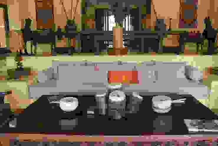 Sala naranja de Al Hilo Ecléctico Textil Ámbar/Dorado