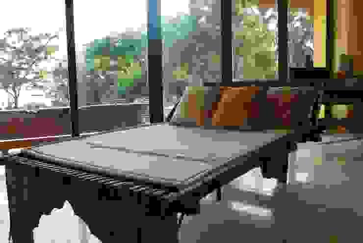 Camastro de la Sala de Al Hilo Ecléctico Textil Ámbar/Dorado