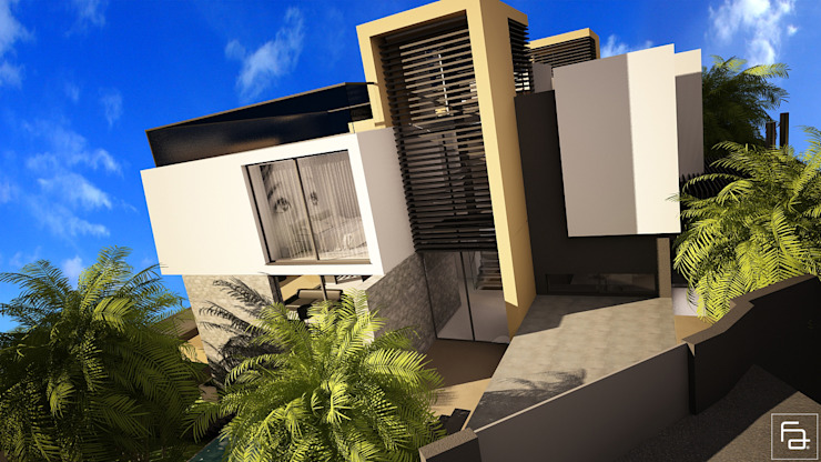 Moradia Funchal Varandas, marquises e terraços modernos por Espaço FA – Arquitetura, Interiores e Decoração Moderno