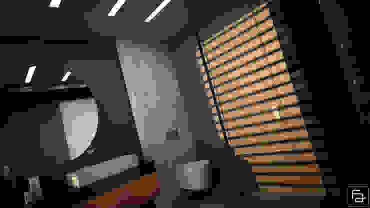 Moradia Funchal: Casas de banho  por Espaço FA – Arquitetura, Interiores e Decoração,