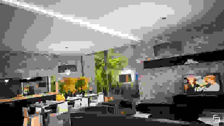 Moradia Funchal: Salas de estar  por Espaço FA – Arquitetura, Interiores e Decoração,