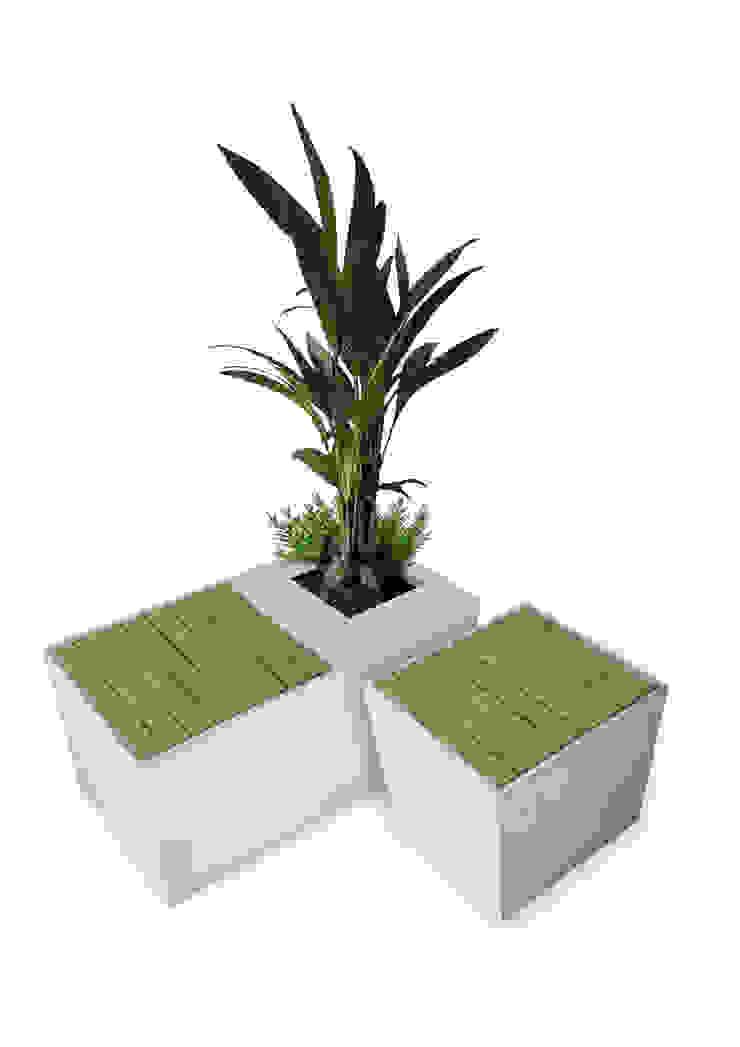 Concrete flower box/seating cube Betoniu GmbH Balconies, verandas & terraces Plants & flowers