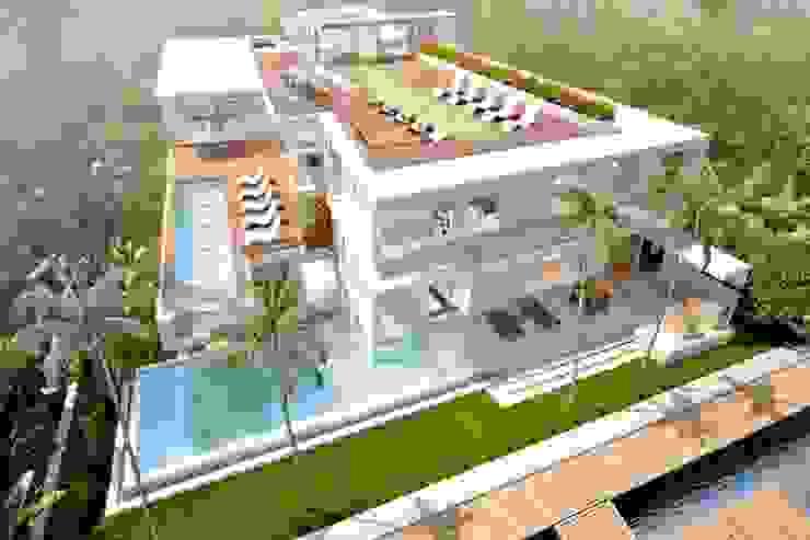 H2 + KUBIK, MIAMI, FLORIDA Casas modernas de Kubik Lab Moderno