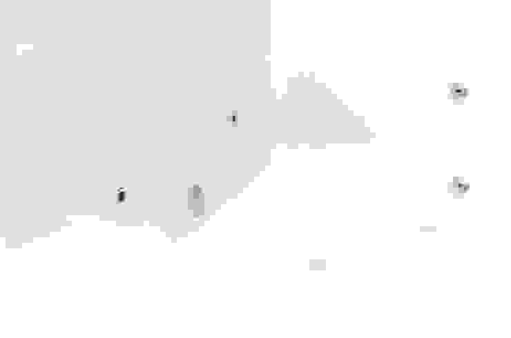 Nowoczesne wnętrze domu jednorodzinnego Bieliny od Pracownia A