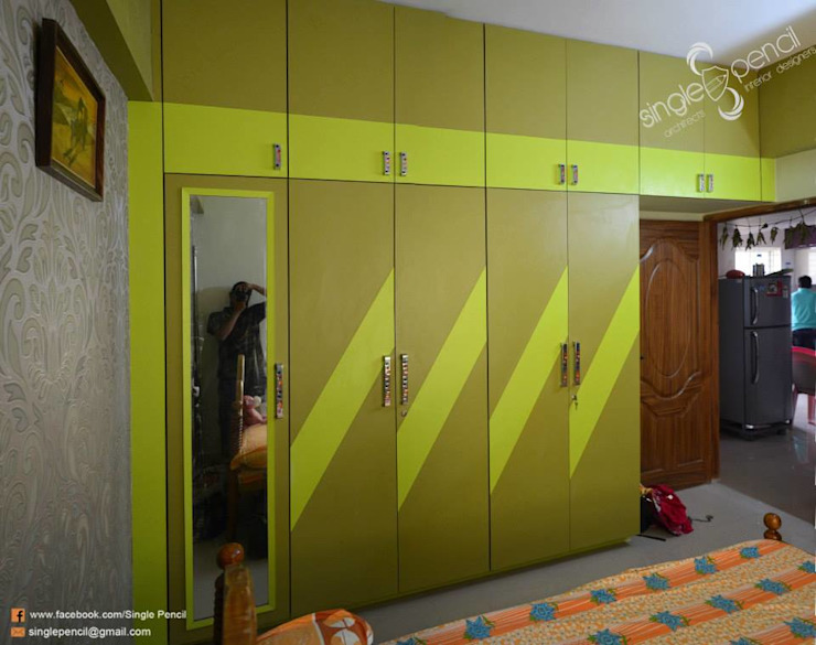 Ratna prabhu:  Bedroom by single pencil architects & interior designers