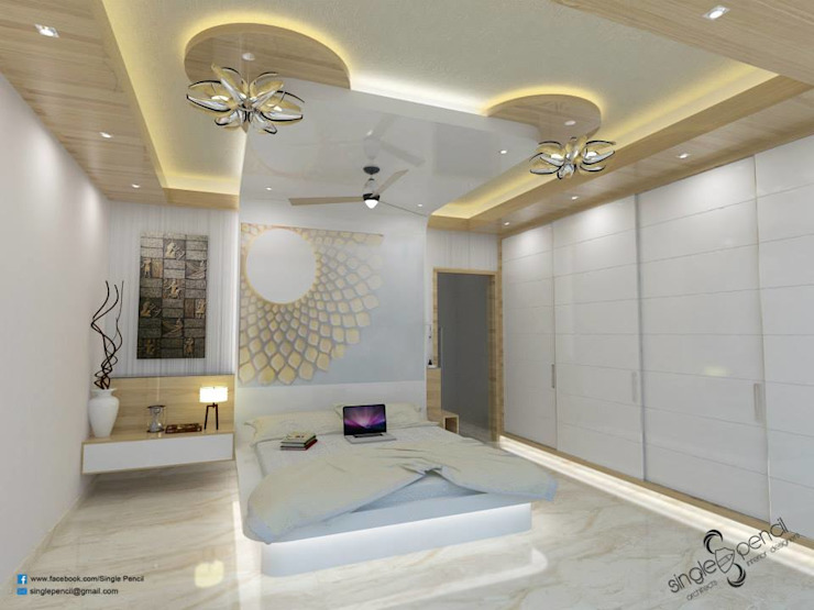 naveen residence Modern style bedroom by single pencil architects & interior designers Modern