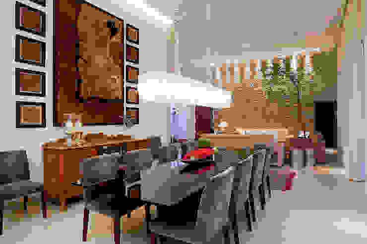 Residência PC - sala de jantar Salas de jantar modernas por Maria Helena Caetano _ Arquitetura e Interiores Moderno