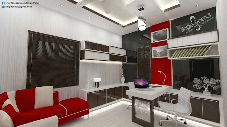 homify Modern style study/office