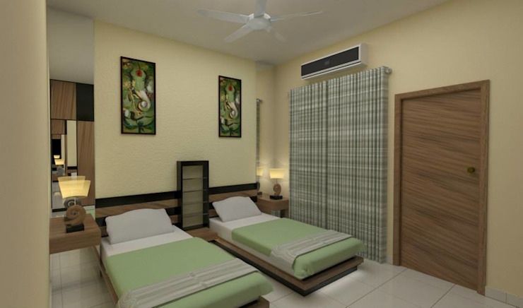 Bedroom designs Modern style bedroom by single pencil architects & interior designers Modern
