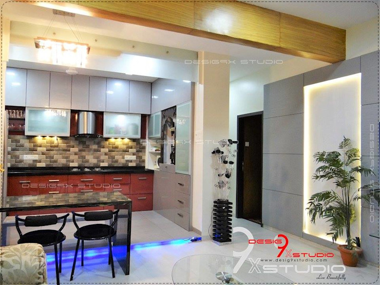 Kitchen and Dining area designs Modern dining room by Desig9x Studio Modern