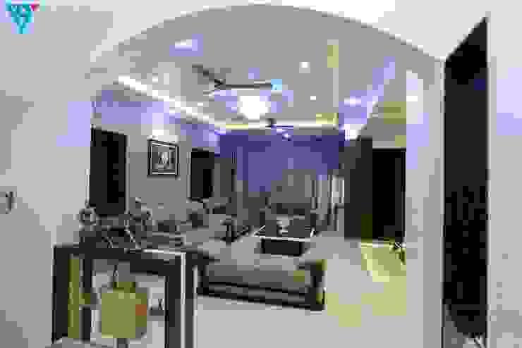 现代客厅設計點子、靈感 & 圖片 根據 V9 - the interior studio 現代風