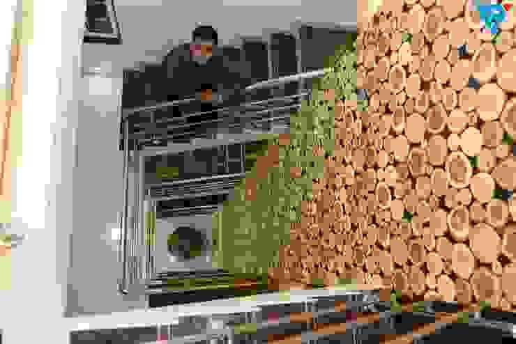 現代風玄關、走廊與階梯 根據 V9 - the interior studio 現代風