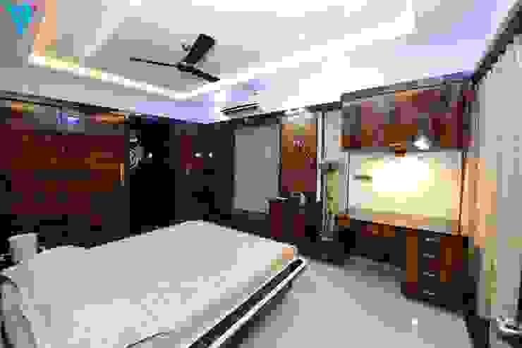 Gulmohor Modern style bedroom by V9 - the interior studio Modern