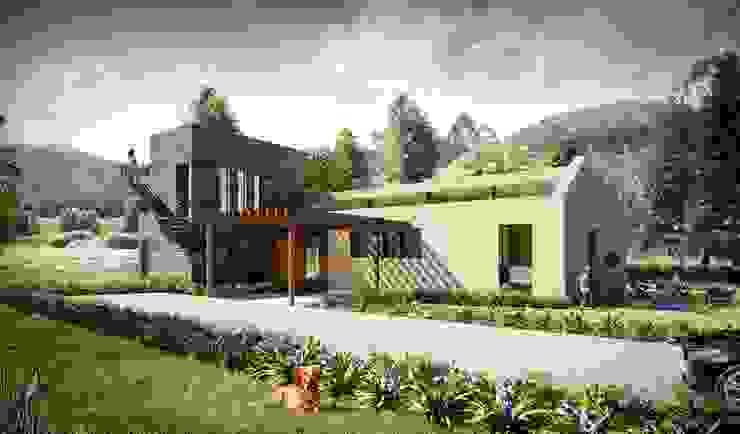 Kubik Verde, Valle de Sopó, Cundinamarca, Colombia: Casas de estilo  por Kubik Lab