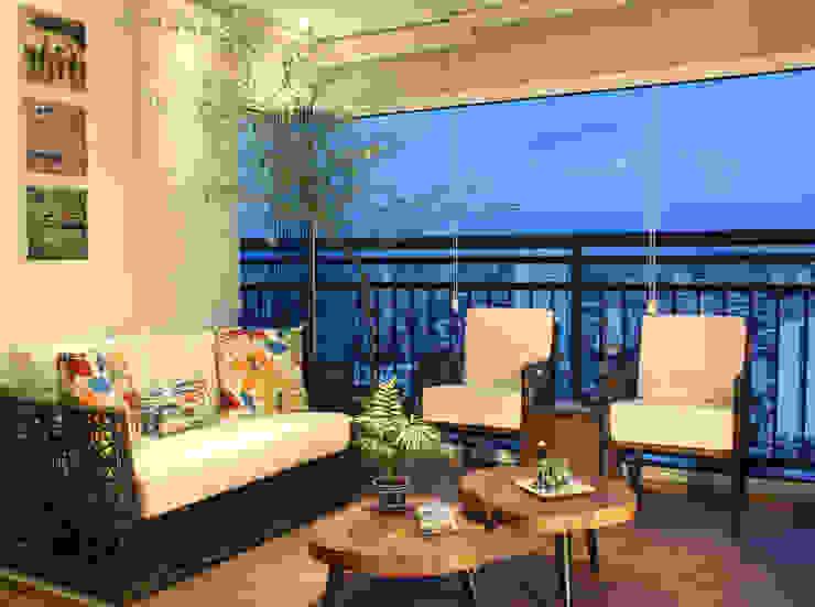 Balcon, Veranda & Terrasse rustiques par Caravieri Cardoso Arquitetura Rustique