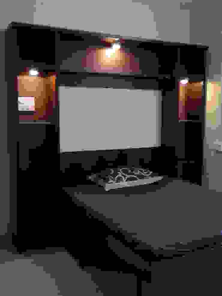 Miyapur Apartment Modern style bedroom by wynall interiors Modern