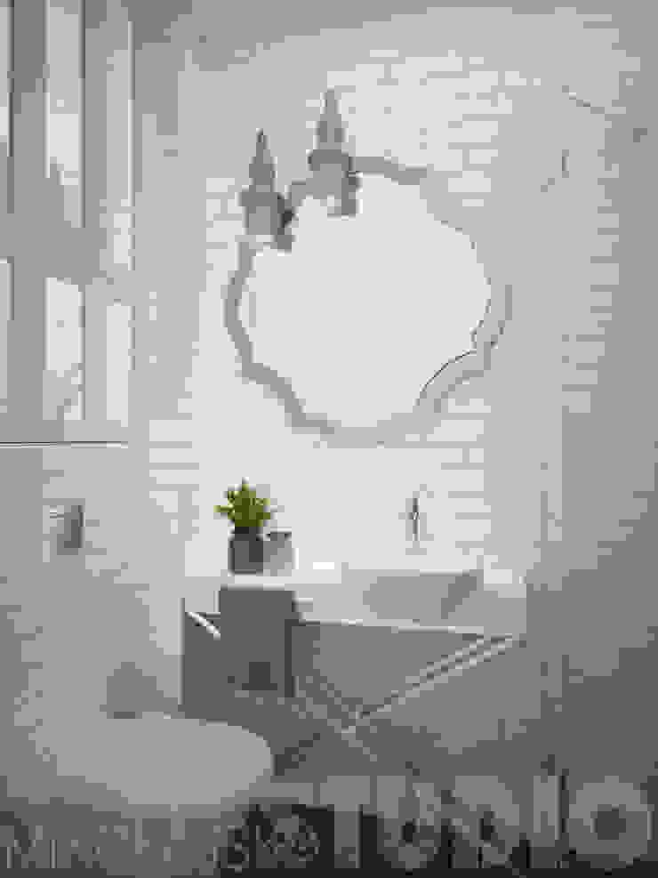 glamour-loft bathroom od MIKOŁAJSKAstudio