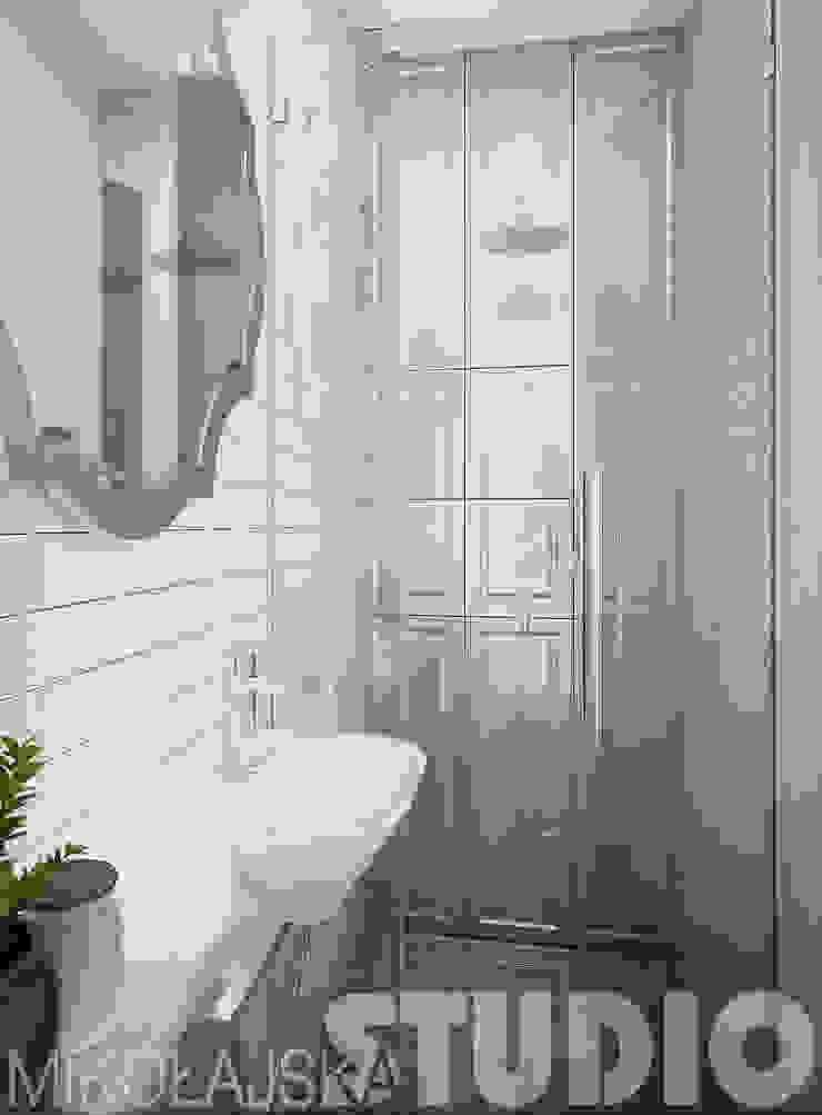 mała łazienka-glamour od MIKOŁAJSKAstudio