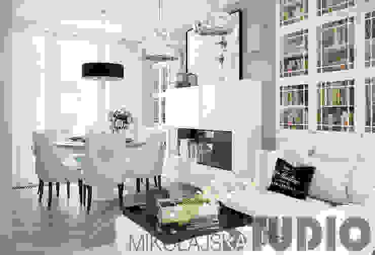 salon-biały: styl , w kategorii  zaprojektowany przez MIKOŁAJSKAstudio ,