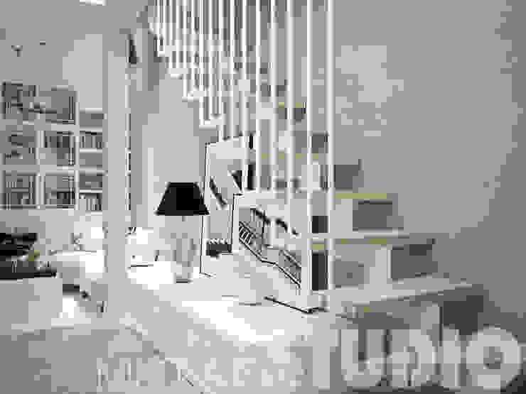 schody w salonie od MIKOŁAJSKAstudio