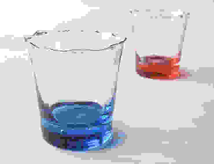 礁ロックグラス: 白神ガラス工房が手掛けた折衷的なです。,オリジナル ガラス