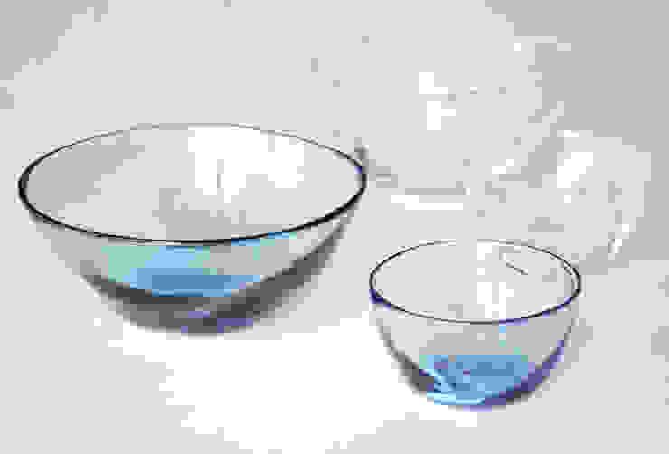 ゆらめきボウル: 白神ガラス工房が手掛けた折衷的なです。,オリジナル ガラス