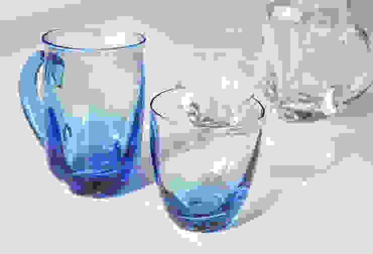 ゆらめきグラス: 白神ガラス工房が手掛けた折衷的なです。,オリジナル ガラス