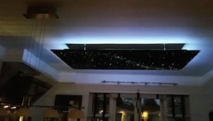Design ideas Fiber optic light LED star lights ceiling panels art stars on ceiling bathroom bedroom kitchen Mediterrane keukens van MyCosmos Mediterraan Aluminium / Zink