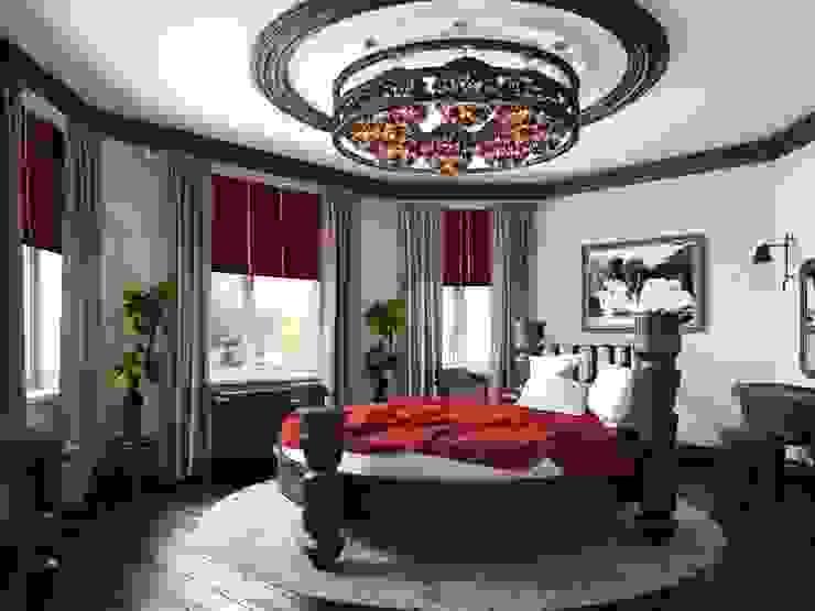 Дом в вьетнамском стиле Спальня в азиатском стиле от Студия дизайна 'New Art' Азиатский