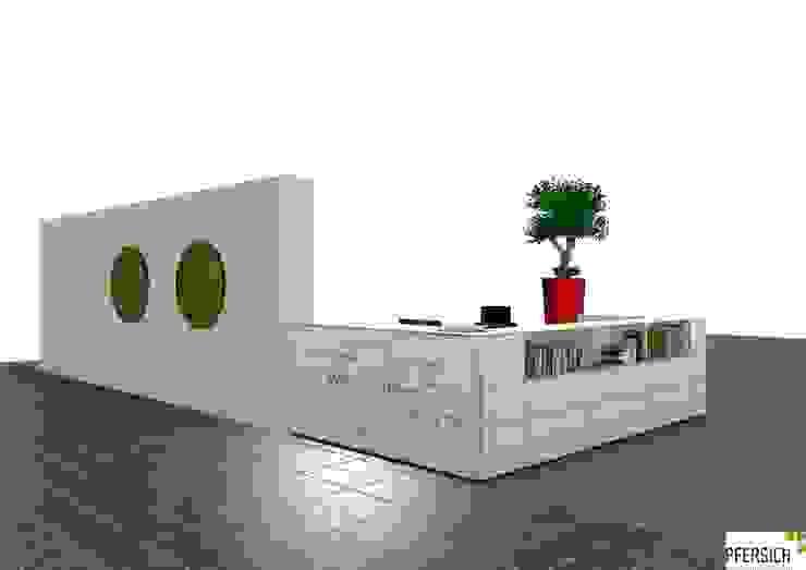 Planungsphase Theke von vorne Ausgefallene Geschäftsräume & Stores von PFERSICH Büroeinrichtungen GmbH Ausgefallen