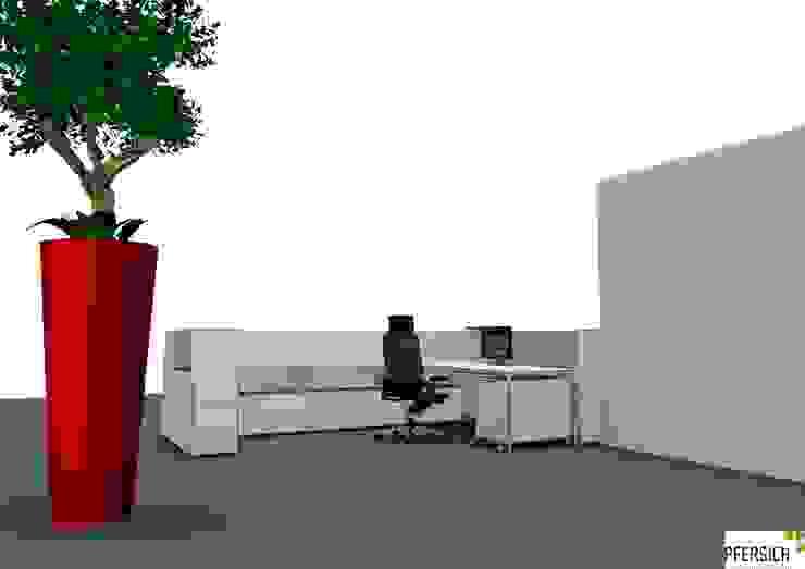 Planungsphase Theke von innen Ausgefallene Geschäftsräume & Stores von PFERSICH Büroeinrichtungen GmbH Ausgefallen