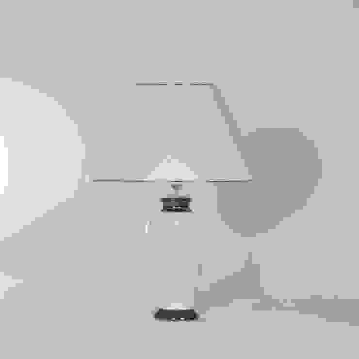 Tischlampe Keramik weiß/platin mit Lampenschirm Leuchtenmanufaktur Brodauf GmbH WohnzimmerBeleuchtung Keramik Weiß