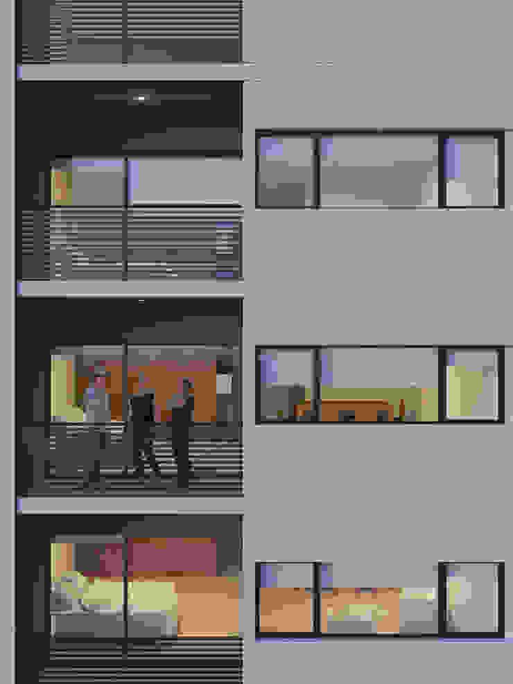 Edificio Chrestia Balcones y terrazas modernos: Ideas, imágenes y decoración de D+D Studio Moderno