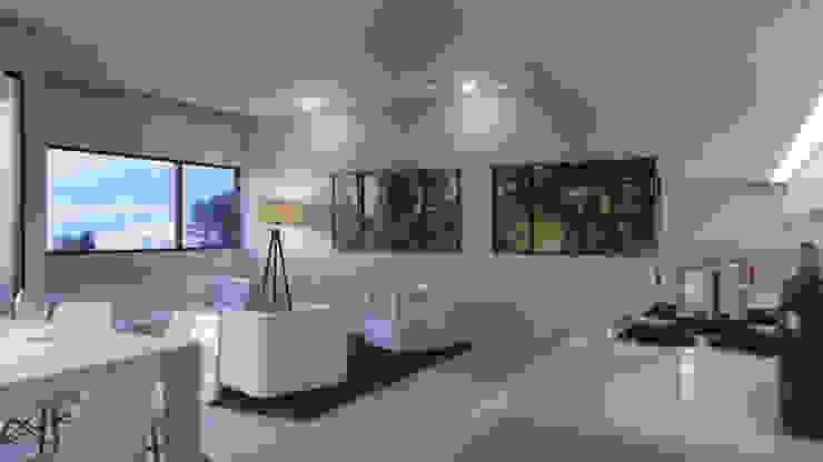 Edificio Chrestia Livings modernos: Ideas, imágenes y decoración de D+D Studio Moderno