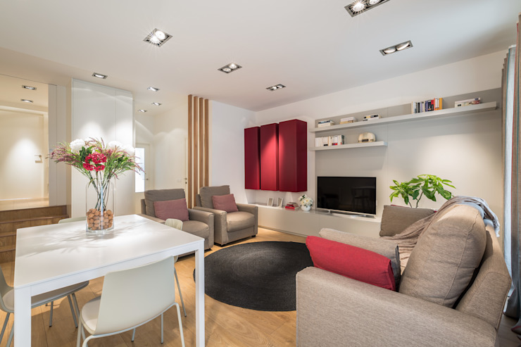 Laura Yerpes Estudio de Interiorismo Modern living room Red